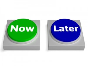 Procrastination remettre au lendemain