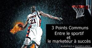Sportif de haut niveau marketeur succès