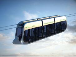 concept skyway transport urbain suspendu