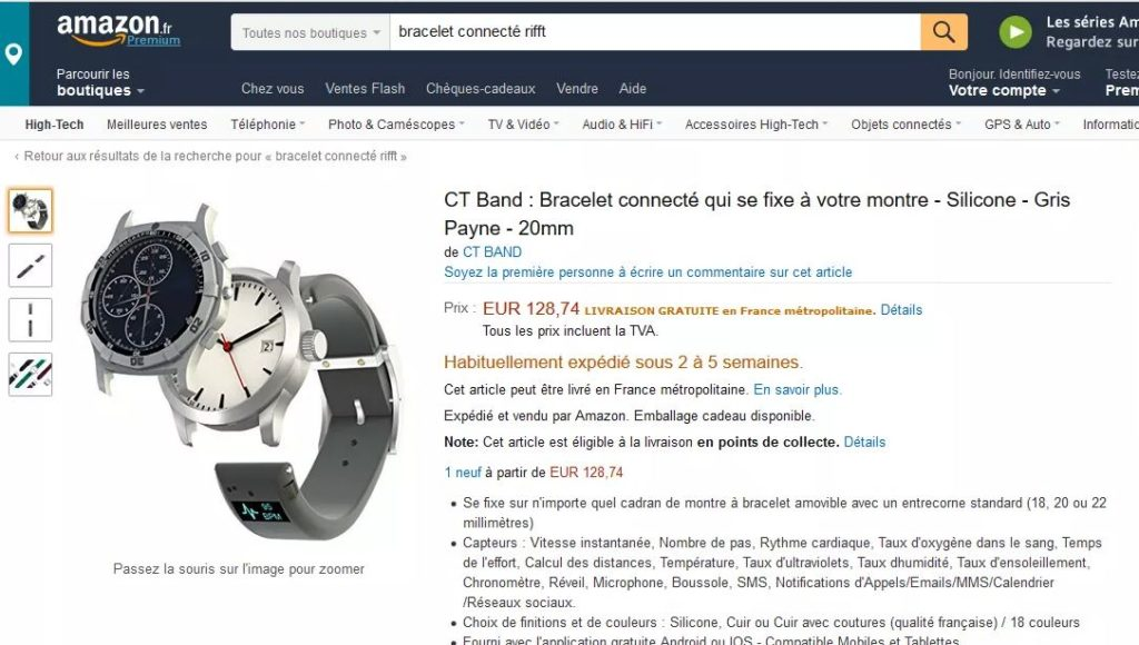 CT Band avis Amazon