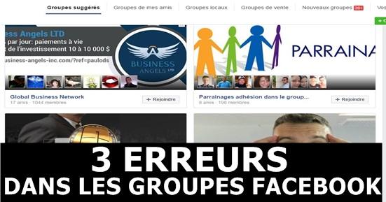 3 erreurs groupe facebook mlm