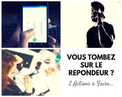 Appel Téléphonique message repondeur - www.reussirsonmlm.com