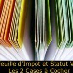 Statut VDI : Découvrez les 2 CASES à remplir sur votre feuille d'impôt pour déclarer votre activité