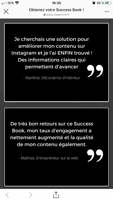 instagram success témoignage